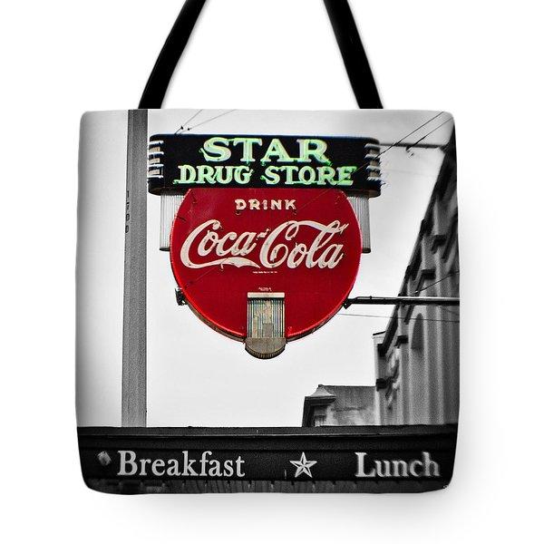 Star Drug Store Tote Bag by Scott Pellegrin