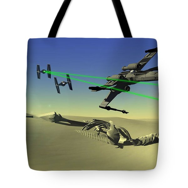 Star Wars Tote Bag by Michael Greenaway