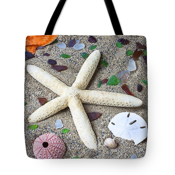 Starfish Beach Still Life Tote Bag by Garry Gay
