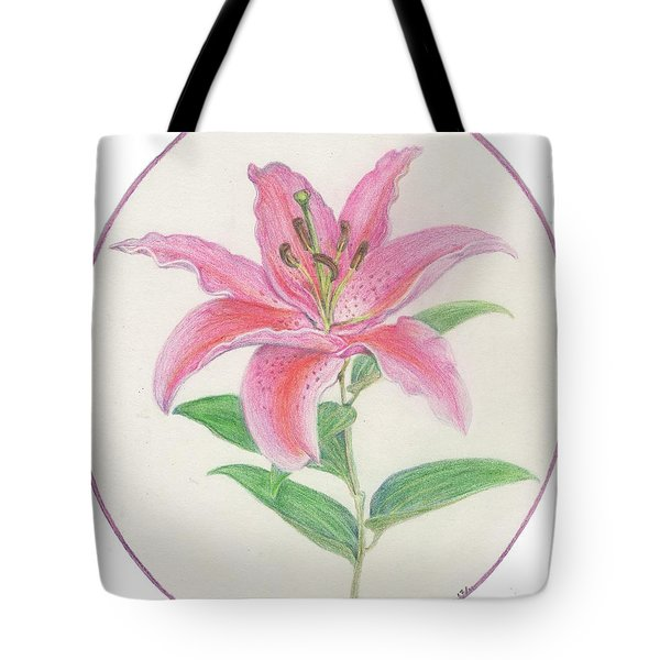 Stargazer Lily Tote Bag by Joanna Aud