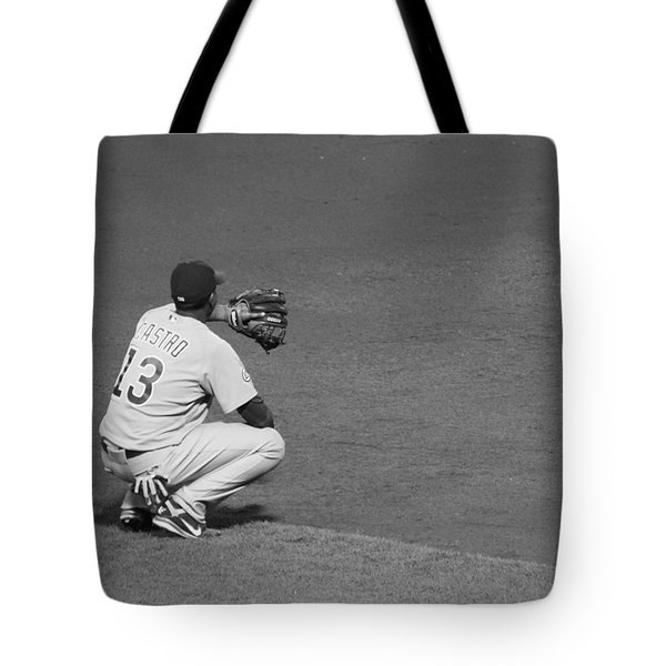 Starlin Castro Chicago Cubs Tote Bag by Lauri Novak