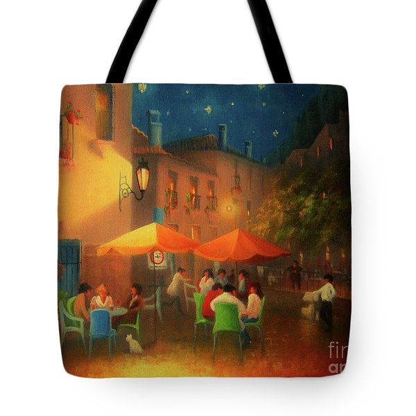 Starry Night Cafe Society Tote Bag by Joe Gilronan