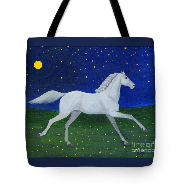Starry Night In August Tote Bag by Anna Folkartanna Maciejewska-Dyba