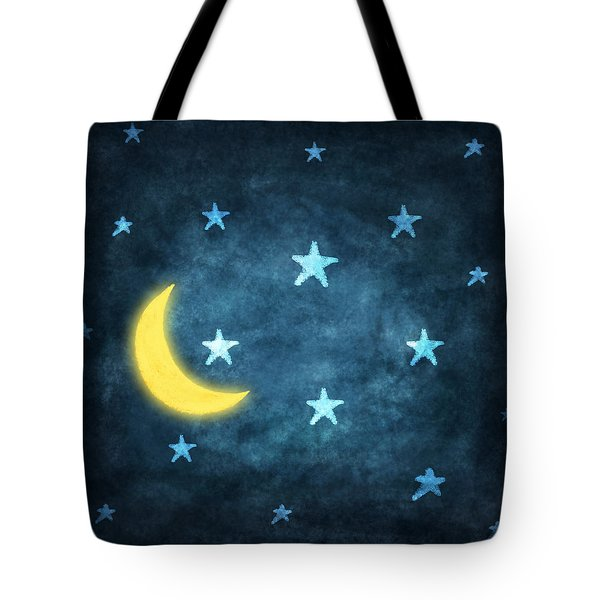 stars and moon drawing with chalk Tote Bag by Setsiri Silapasuwanchai