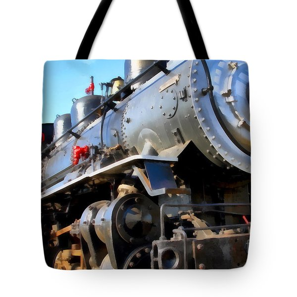 Steam Locomotive Engine 1215 . 7d12980 Tote Bag by Wingsdomain Art and Photography