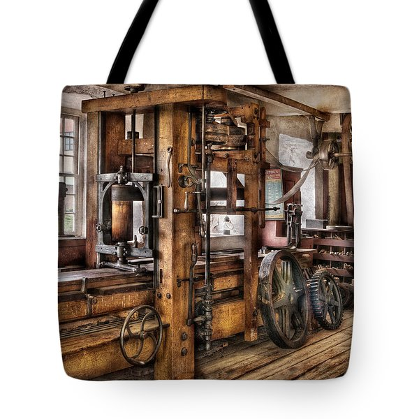 Steam Punk - The Press Tote Bag by Mike Savad