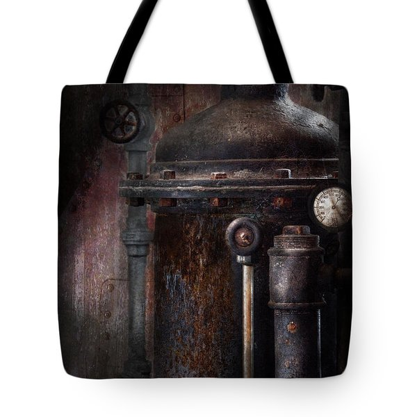 Steampunk - Handling Pressure  Tote Bag by Mike Savad