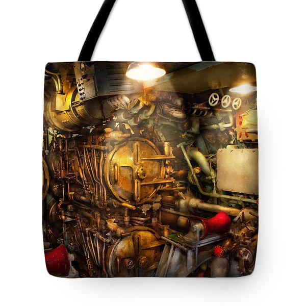 Steampunk - Naval - The Torpedo Room Tote Bag by Mike Savad