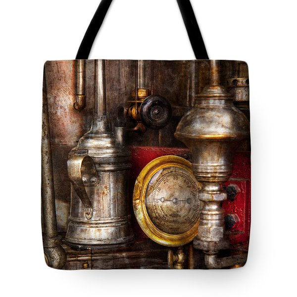 Steampunk - Needs oil Tote Bag by Mike Savad