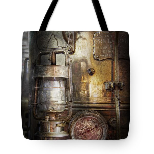 Steampunk - Silent into the night Tote Bag by Mike Savad