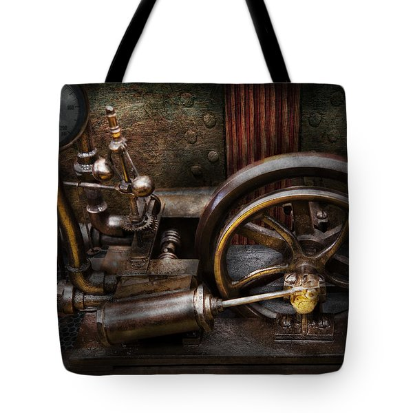 Steampunk - The Contraption Tote Bag by Mike Savad