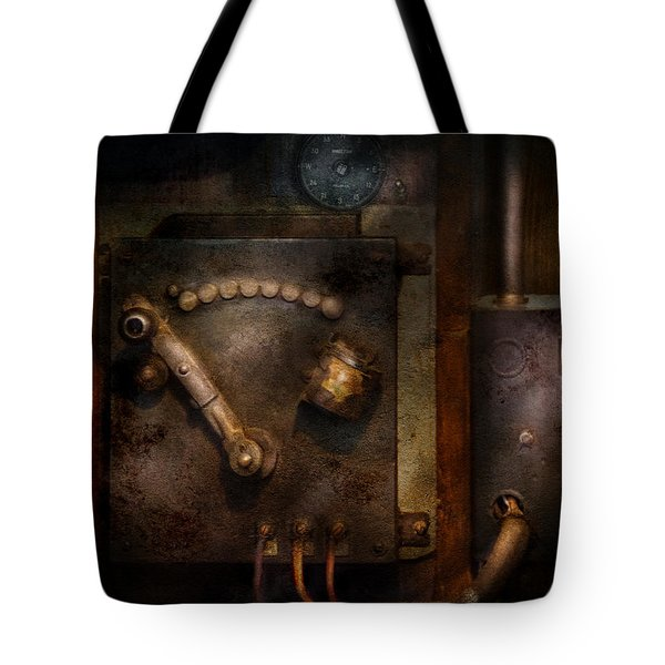 Steampunk - The Control Room  Tote Bag by Mike Savad