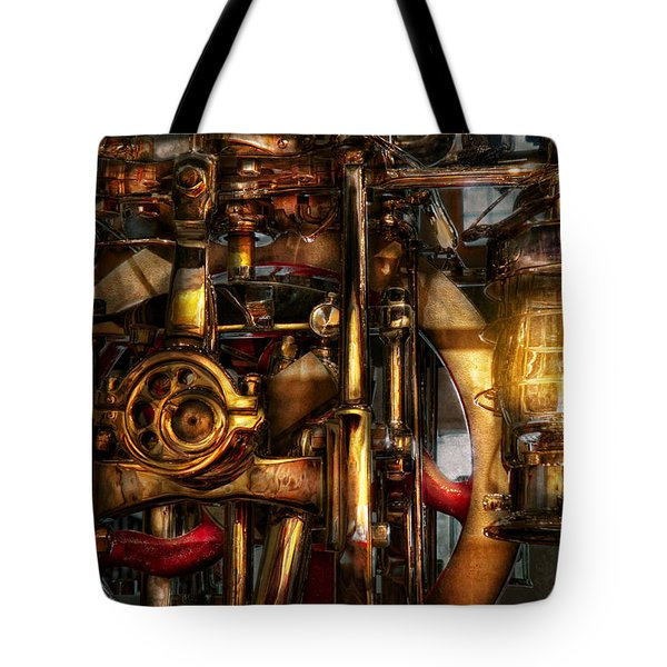 Steampunk - Mechanica Tote Bag by Mike Savad