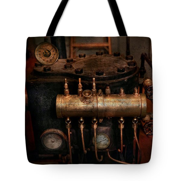 Steampunk - Plumbing - The valve matrix Tote Bag by Mike Savad