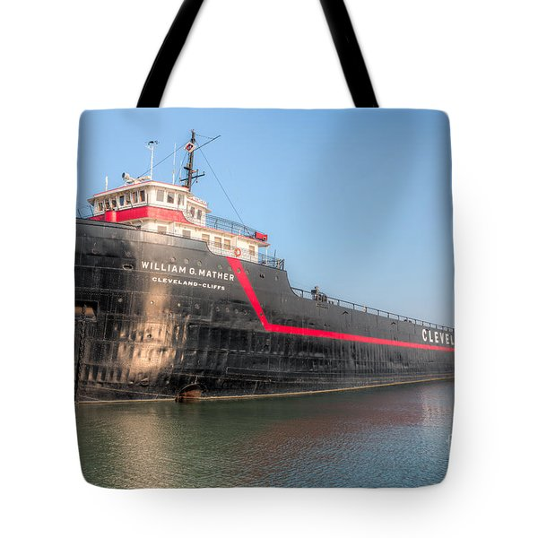 Steamship William G. Mather I Tote Bag by Clarence Holmes