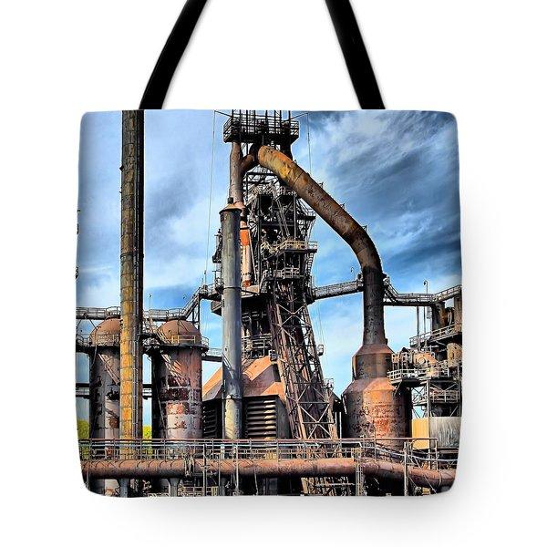 Steel Stacks Bethlehem Pa. Tote Bag by DJ Florek