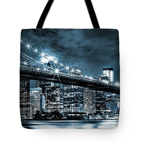 Steely Skyline Tote Bag by Az Jackson
