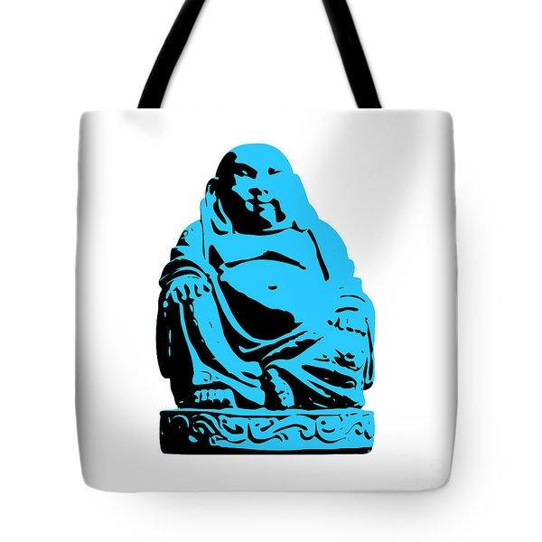 Stencil Buddha Tote Bag by Pixel Chimp