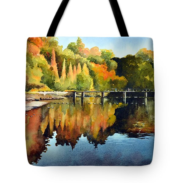 Stepping Stones Bolton Abbey Tote Bag by Paul Dene Marlor