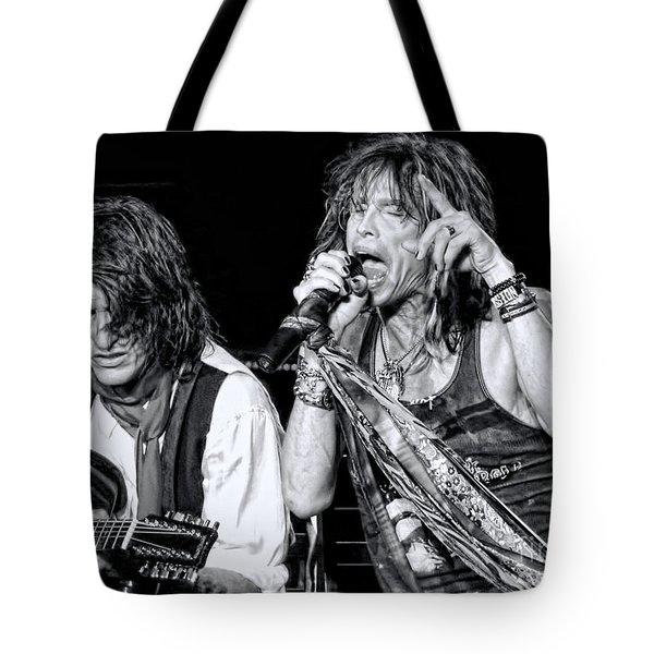 Steven Tyler Croons Tote Bag by Traci Cottingham