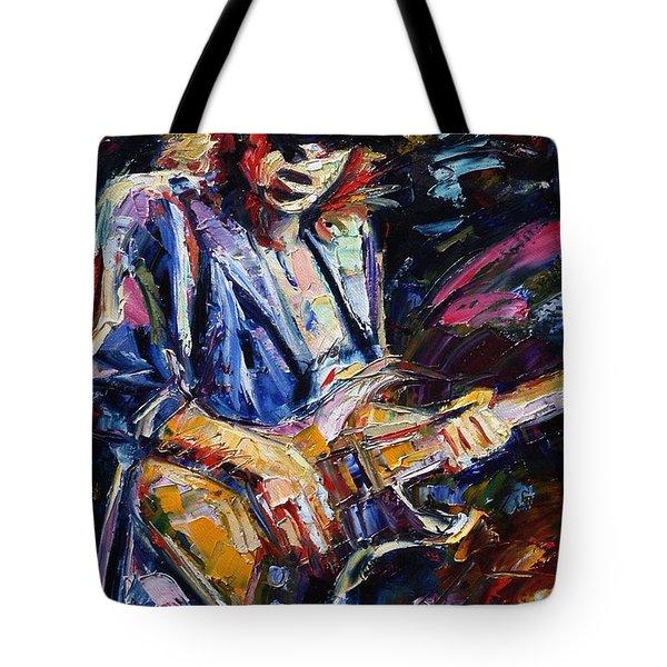 Stevie Ray Vaughan Tote Bag by Debra Hurd