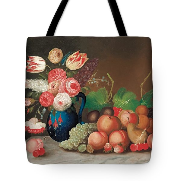 Still Life With Fruit And Flowers Tote Bag by William Buelow Gould