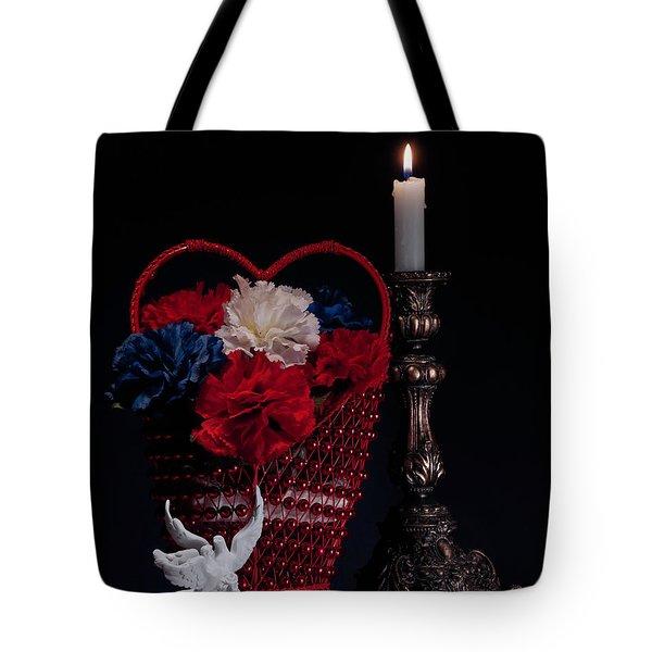 Still Life With Lovebirds Tote Bag by Tom Mc Nemar