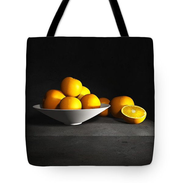 Still Life With Oranges Tote Bag by Cynthia Decker