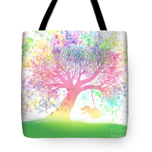 Still More Rainbow Tree Dreams 2 Tote Bag by Nick Gustafson
