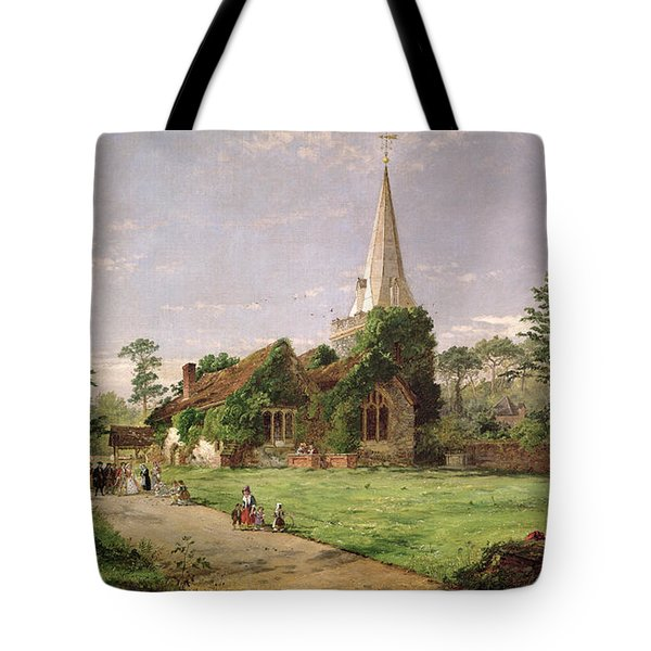 Stoke Poges Church Tote Bag by Jasper Francis Cropsey