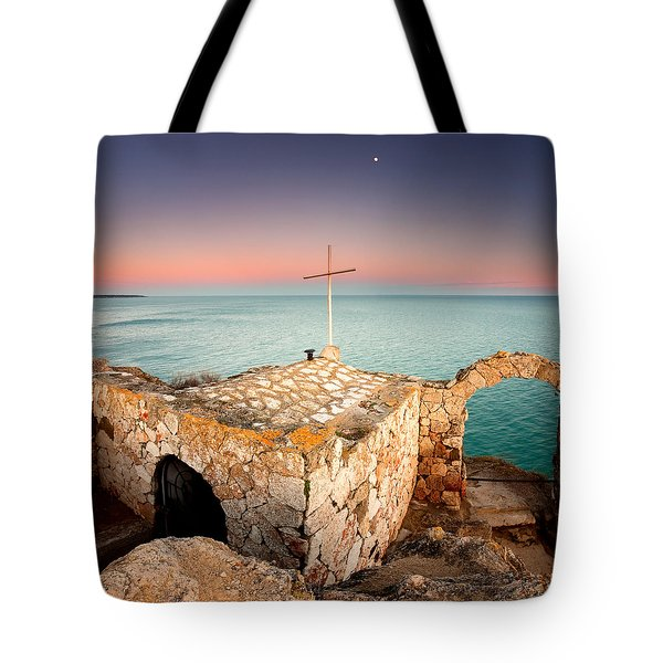 Stone Chapel Tote Bag by Evgeni Dinev