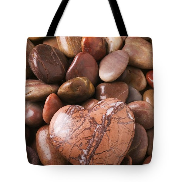 Stone heart Tote Bag by Garry Gay