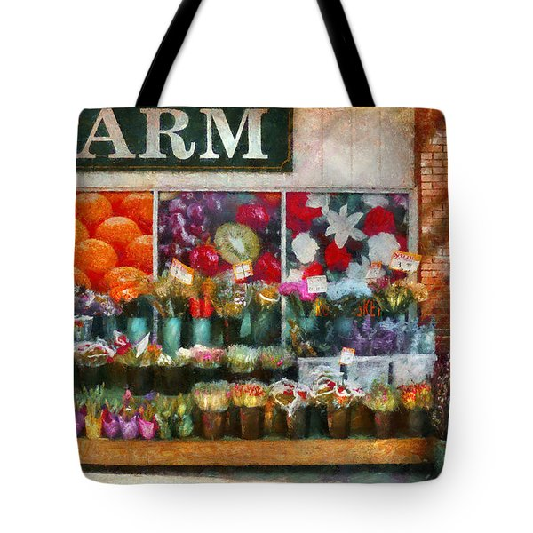 Store - Westfield Nj - The Flower Stand Tote Bag by Mike Savad