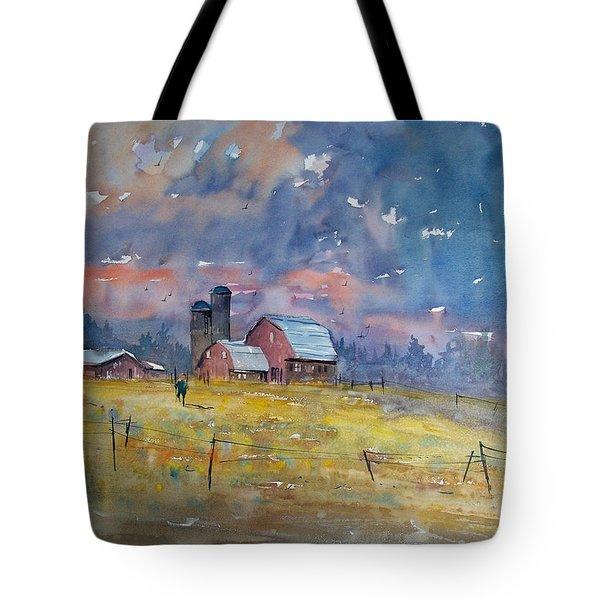 Storm Brewing Tote Bag by Ryan Radke
