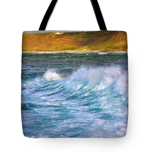 Storm Wave Tote Bag by Louise Heusinkveld