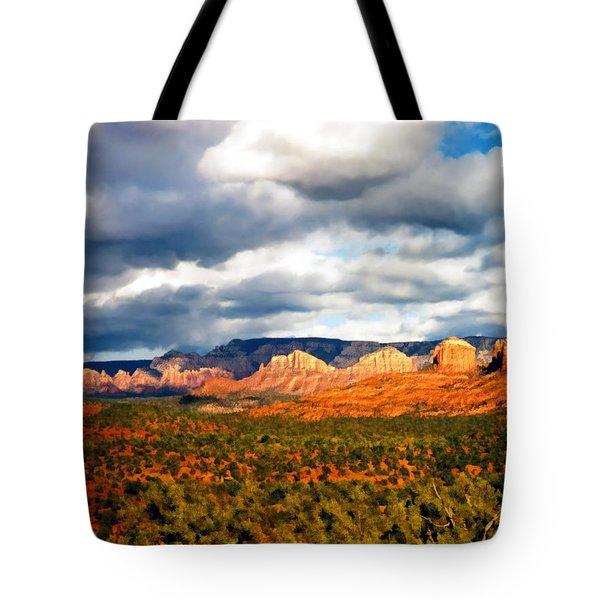 Stormwatch Arizona Tote Bag by Kurt Van Wagner