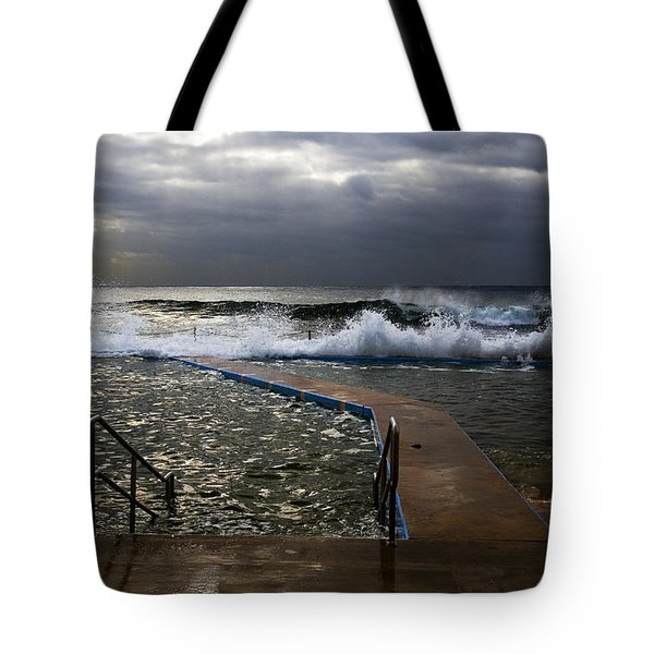 Stormy Morning At Collaroy Tote Bag by Avalon Fine Art Photography