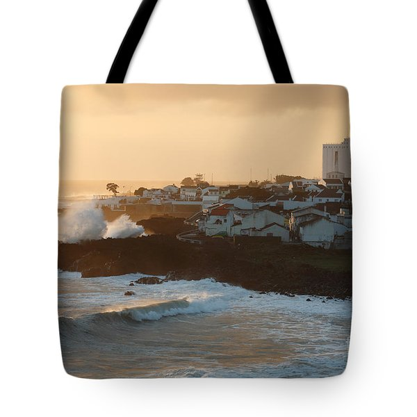 Stormy weather in Azores Tote Bag by Gaspar Avila