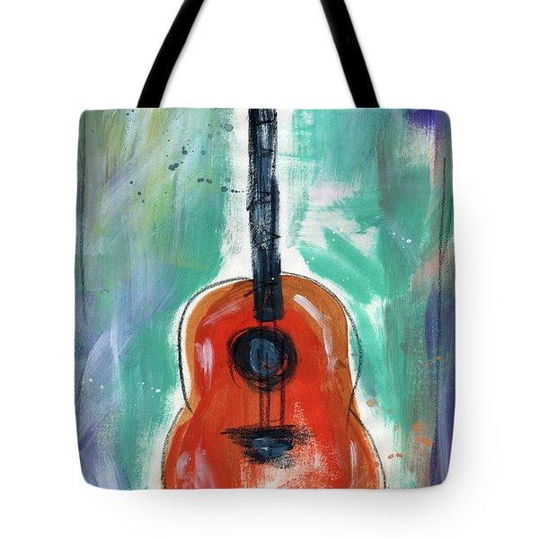 Storyteller's Guitar Tote Bag by Linda Woods