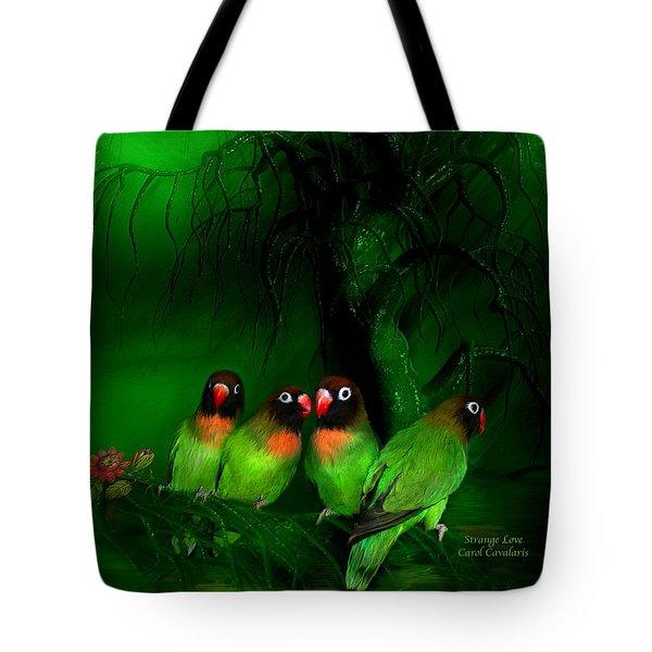 Strange Love Tote Bag by Carol Cavalaris