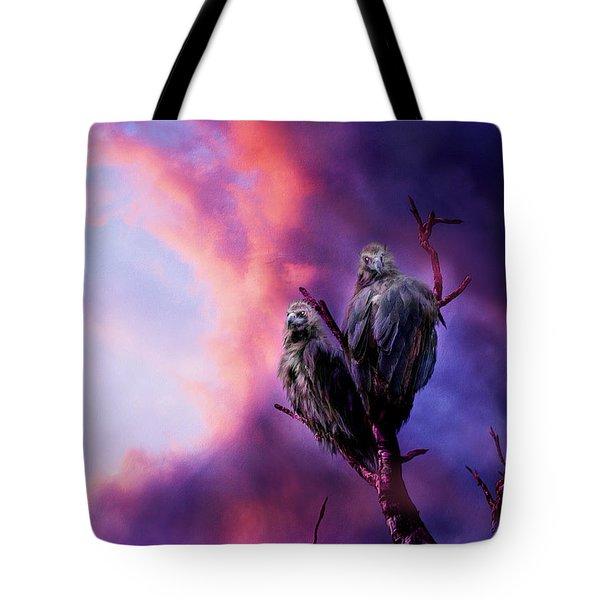 Strange Togetherness Tote Bag by Carol Cavalaris