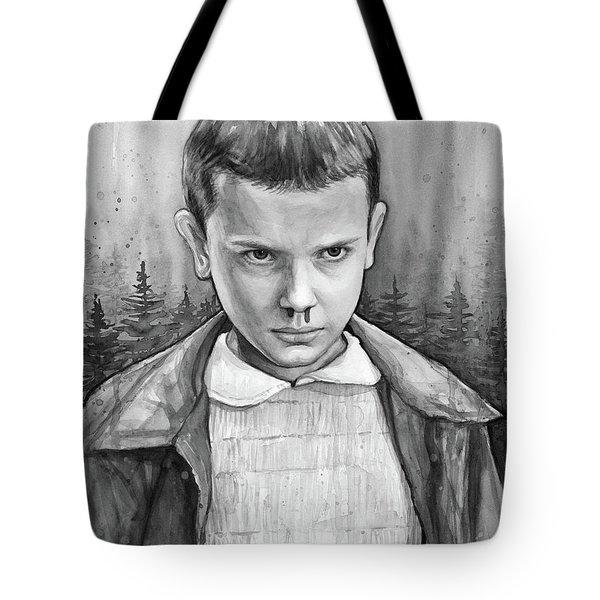 Stranger Things Fan Art Eleven Tote Bag by Olga Shvartsur