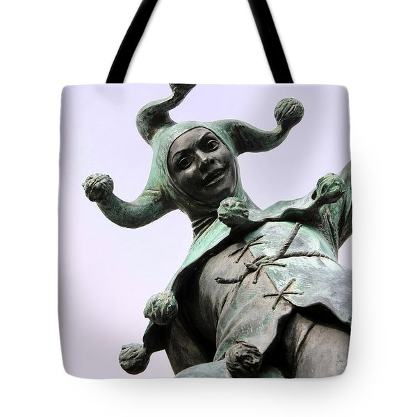 Stratford's Jester Statue Tote Bag by Terri  Waters
