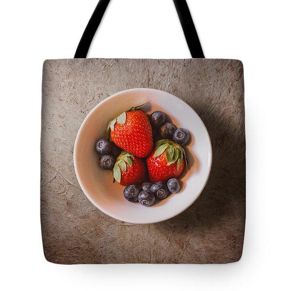 Strawberries And Blueberries Tote Bag by Scott Norris