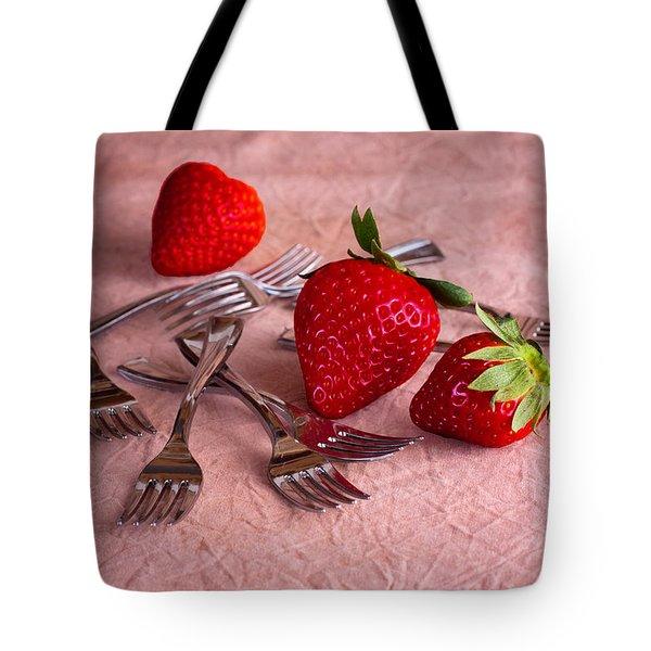 Strawberry Delight Tote Bag by Tom Mc Nemar