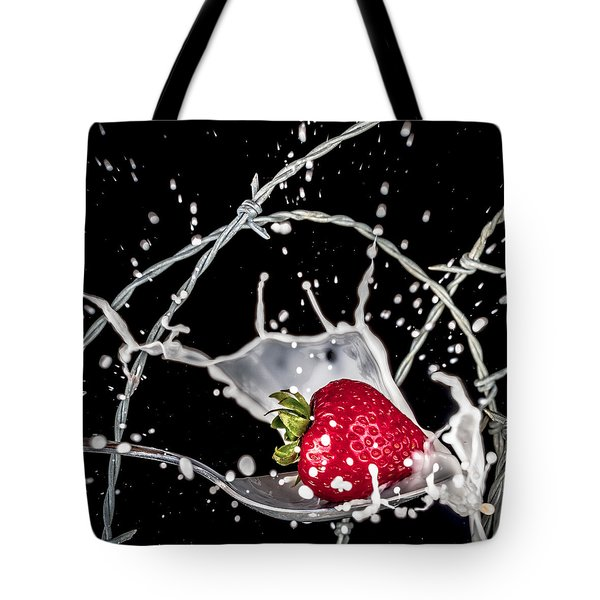 Strawberry Extreme Sports Tote Bag by TC Morgan