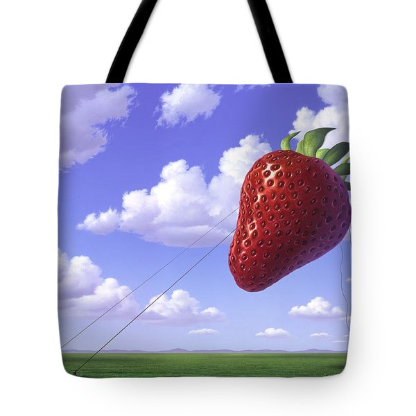 Strawberry Field Tote Bag by Jerry LoFaro
