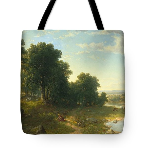 Strawberrying Tote Bag by Asher Brown Durand