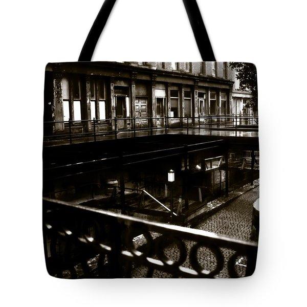 Street Below  Tote Bag by Marcin and Dawid Witukiewicz