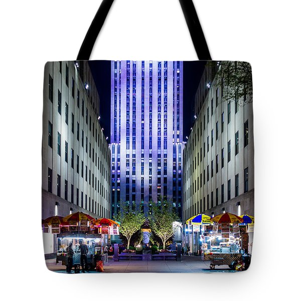 Tote Bag featuring the photograph Rockefeller Center by M G Whittingham